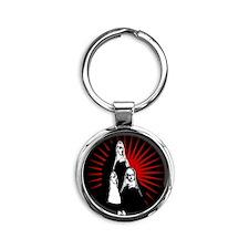 Nuns Graphic Round Keychain