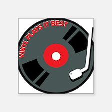 "Vinyl Record Best Square Sticker 3"" x 3"""