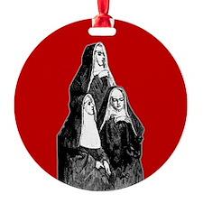 Vintage Illustration Of Nuns Ornament