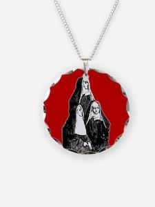 Vintage Illustration Of Nuns Necklace