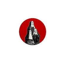 Vintage Illustration Of Nuns Mini Button