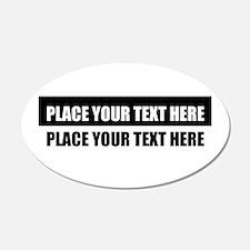 Add text message Decal Wall Sticker