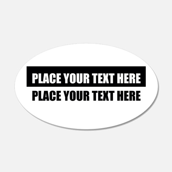 Add text message Decal Wall Sticker