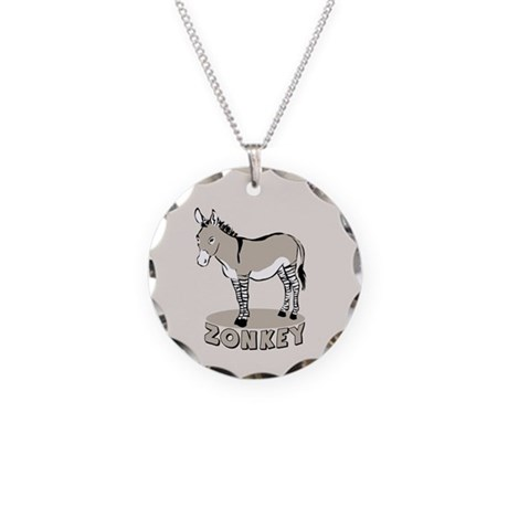 Zonkey Necklace Circle Charm