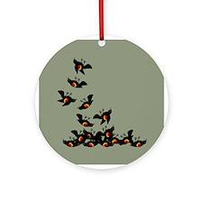 Falling Blackbirds Ornament (Round)