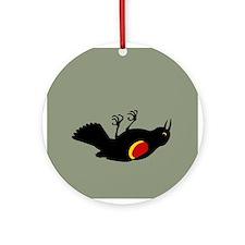 Fallen Blackbird Ornament (Round)