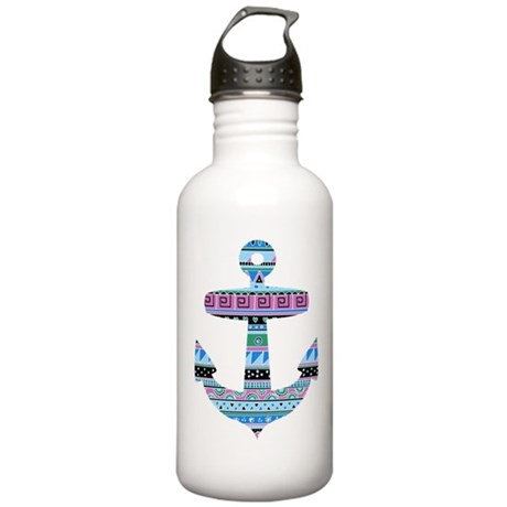 Blue Tribal Anchor Stainless Water Bottle 1.0L
