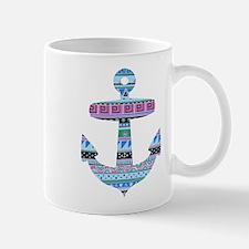 Blue Tribal Anchor Mug