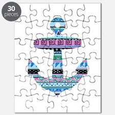 Blue Tribal Anchor Puzzle