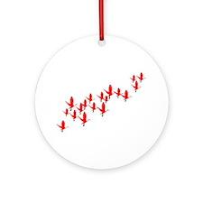 Scarlet Ibis Flock Ornament (Round)