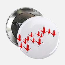 """Scarlet Ibis Flock 2.25"""" Button"""