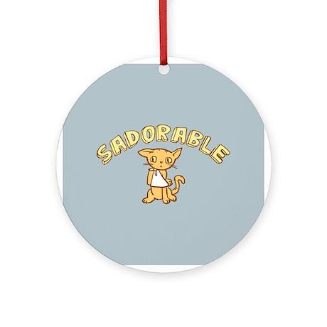 Sadorable Kitten Ornament (Round)