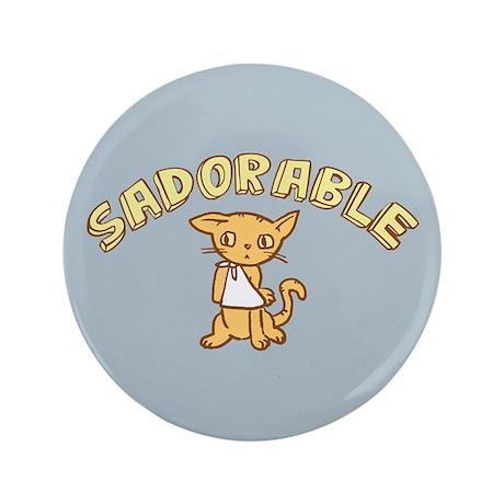 """Sadorable Kitten 3.5"""" Button"""