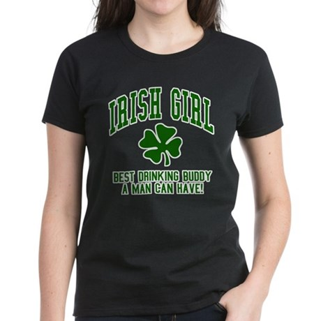 Irish Girl Drinking Buddy Women's Dark T-Shirt