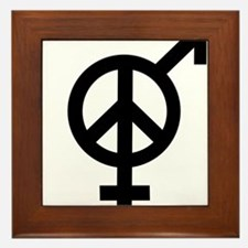 Peace Among and Within The Sexes Framed Tile