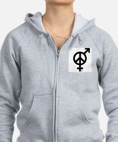 Peace Among and Within The Sexes Zip Hoodie