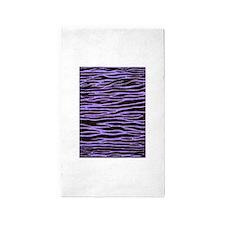 Purple Zebra Stripe 3'x5' Area Rug