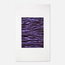 Purple Zebra Stripe 3'x5' Area Rug