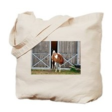 My Paint Horse is Curious Tote Bag