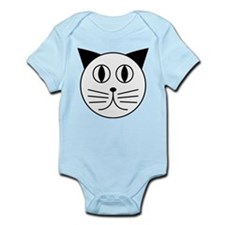Cute Kitty Cat Face Infant Bodysuit