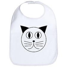 Cute Kitty Cat Face Bib