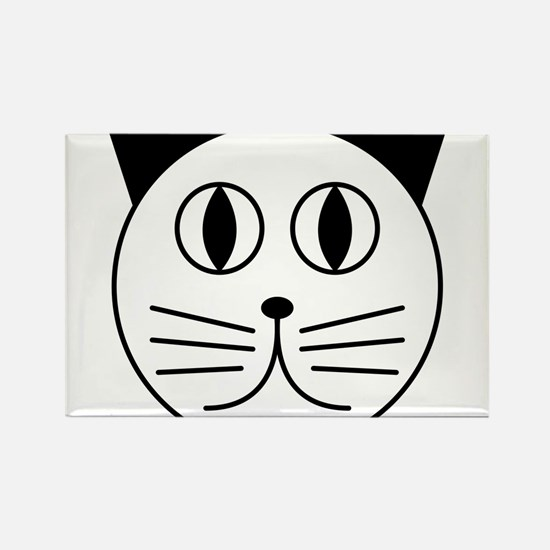 Cute Kitty Cat Face Rectangle Magnet