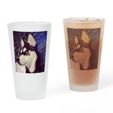 Siberian Husky Puppy Drinking Glass