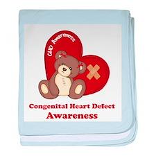 Congenital Heart Defect Awareness baby blanket