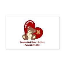 Congenital Heart Defect Awareness Car Magnet 20 x