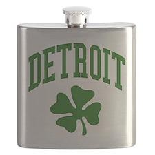 Detroit 313 IRISH Flask