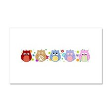 cute owls Car Magnet 20 x 12
