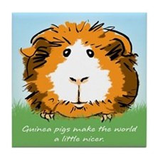 Guinea pigs make the world... Tile Coaster