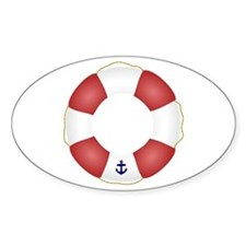 Red and White Life Saver Decal