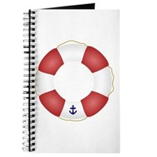 Red and White Life Saver Journal