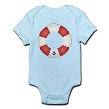 Red and White Life Saver Infant Bodysuit