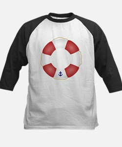 Red and White Life Saver Tee