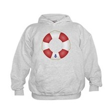 Red and White Life Saver Hoodie