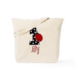 1 Ladybug - LILY- Birthday Custom Tote Bag