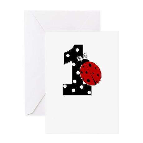 1_ladybug_birthdaygirl_BLANK Greeting Card