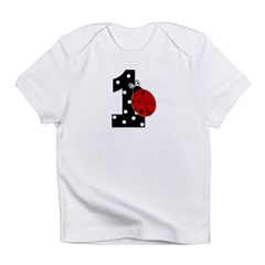 1_ladybug_birthdaygirl_BLANK Infant T-Shirt