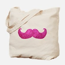 Pink Bling Mustache (faux glitter) Tote Bag