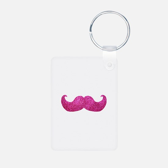 Pink Bling Mustache (faux glitter) Aluminum Photo