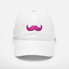 Pink Bling Mustache (faux glitter) Baseball Baseball Cap