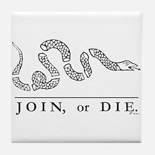 Join or Die Tile Coaster