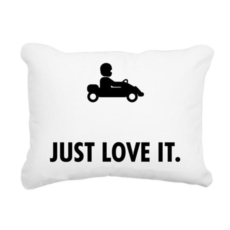 Karting Rectangular Canvas Pillow