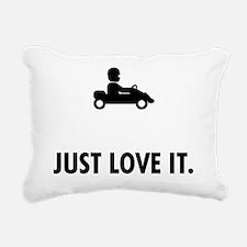 Karting Rectangular Canvas Pillow