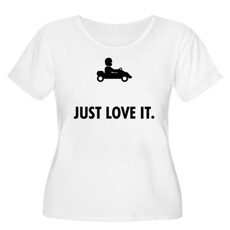 Karting Women's Plus Size Scoop Neck T-Shirt