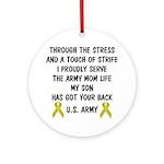 Army Mom My Son has got your back Poem Ornament (R