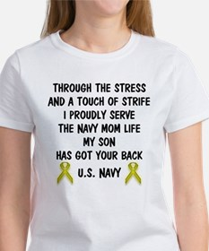 Navy Mom My Son has got your back Poem Tee