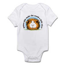 Guinea pigs make the world... Infant Bodysuit